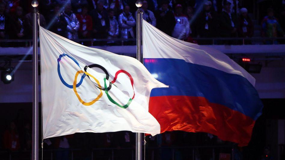 Bis die russische Flagge bei Olympischen Spielen wieder wehen darf, wird es wohl noch dauern