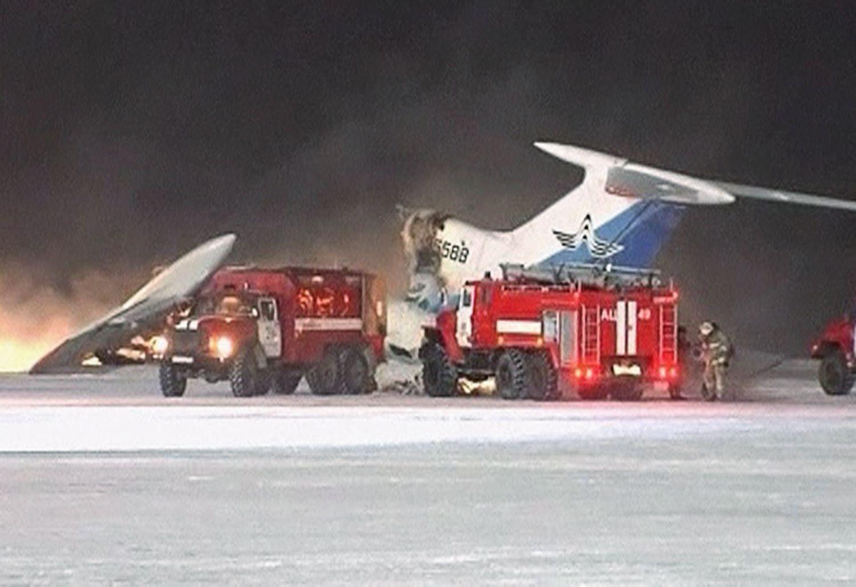 Russland explodiertes Flugzeug