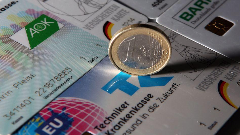 Euro auf Krankenkassenkarten