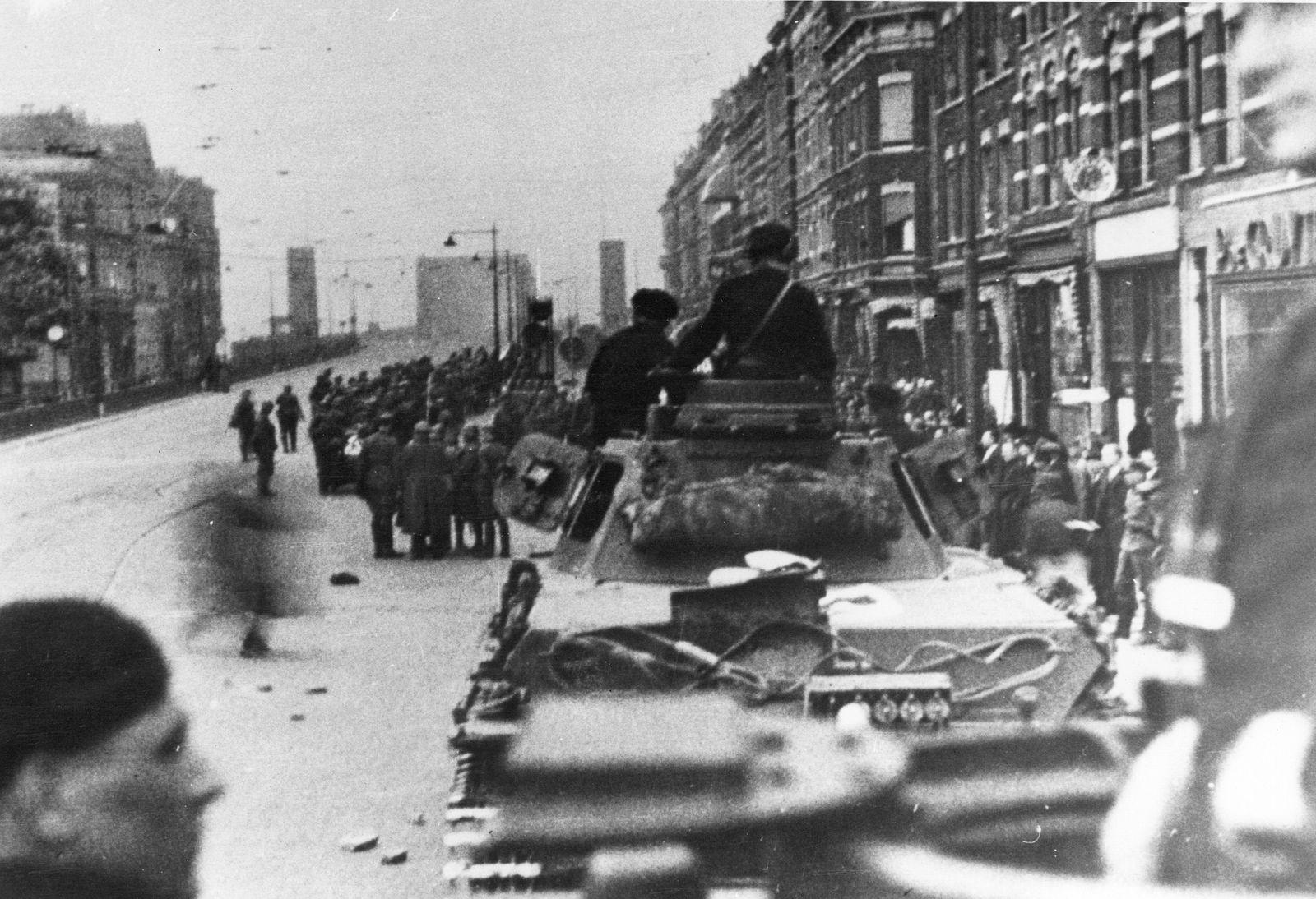 Einzug der deutschen Truppen in Rotterdam, 1940