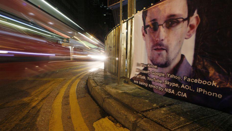 Solidarität mit Edward Snowden: Plakat in Hongkong