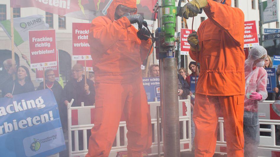 Umweltschützer beim Anti-Fracking-Protest