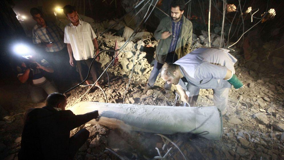Angriff auf Gaddafi-Sohn: Trümmerfeld im Nobelviertel