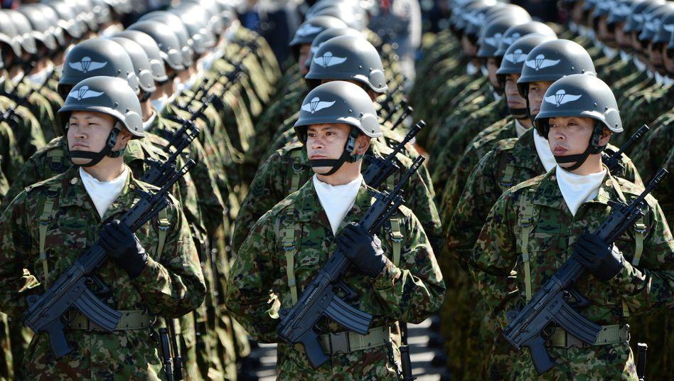 """Japanische Soldaten: """"Aufbauschen einer chinesischen Bedrohung"""""""