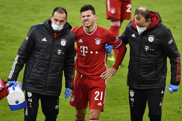 Lucas Hernandez musste gegen Bremen unter Schmerzen vom Feld