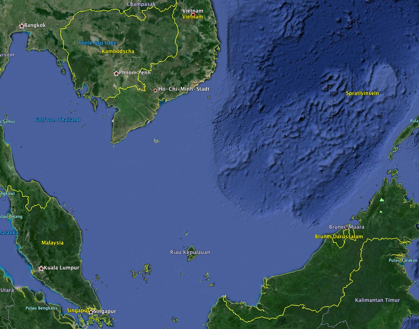 SCREENSHOT/ Google Earth/ Vietnam/ Malaysia