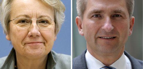 Annette Schavan, Andreas Pinkwart: Am dreigliedrigen Schulsystem festhalten