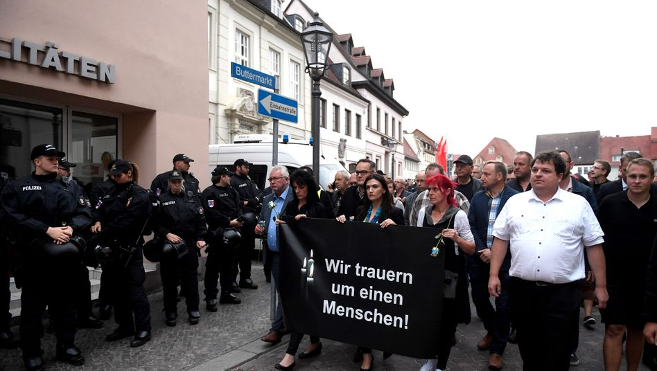 Demonstration in Köthen