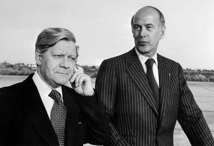 Schmidt und Giscard bei einem Treffen 1977: Aus der Arbeitsbeziehung entsteht eine Freundschaft