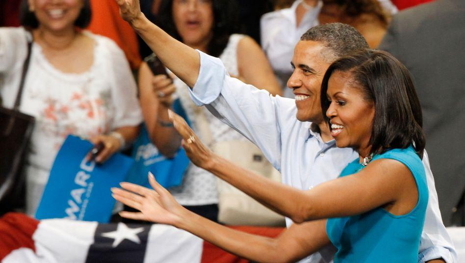 Das waren noch Zeiten: Die Obamas 2012 an einer Universität in Richmond