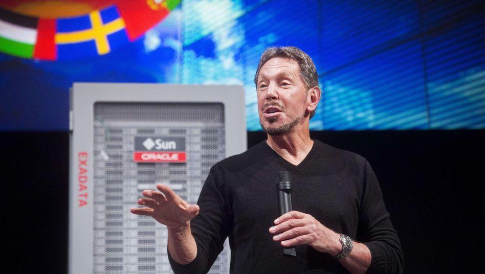 Oracle-Chef Ellison (Archivbild): Konzern mit Milliardenzukäufen breit aufgestellt
