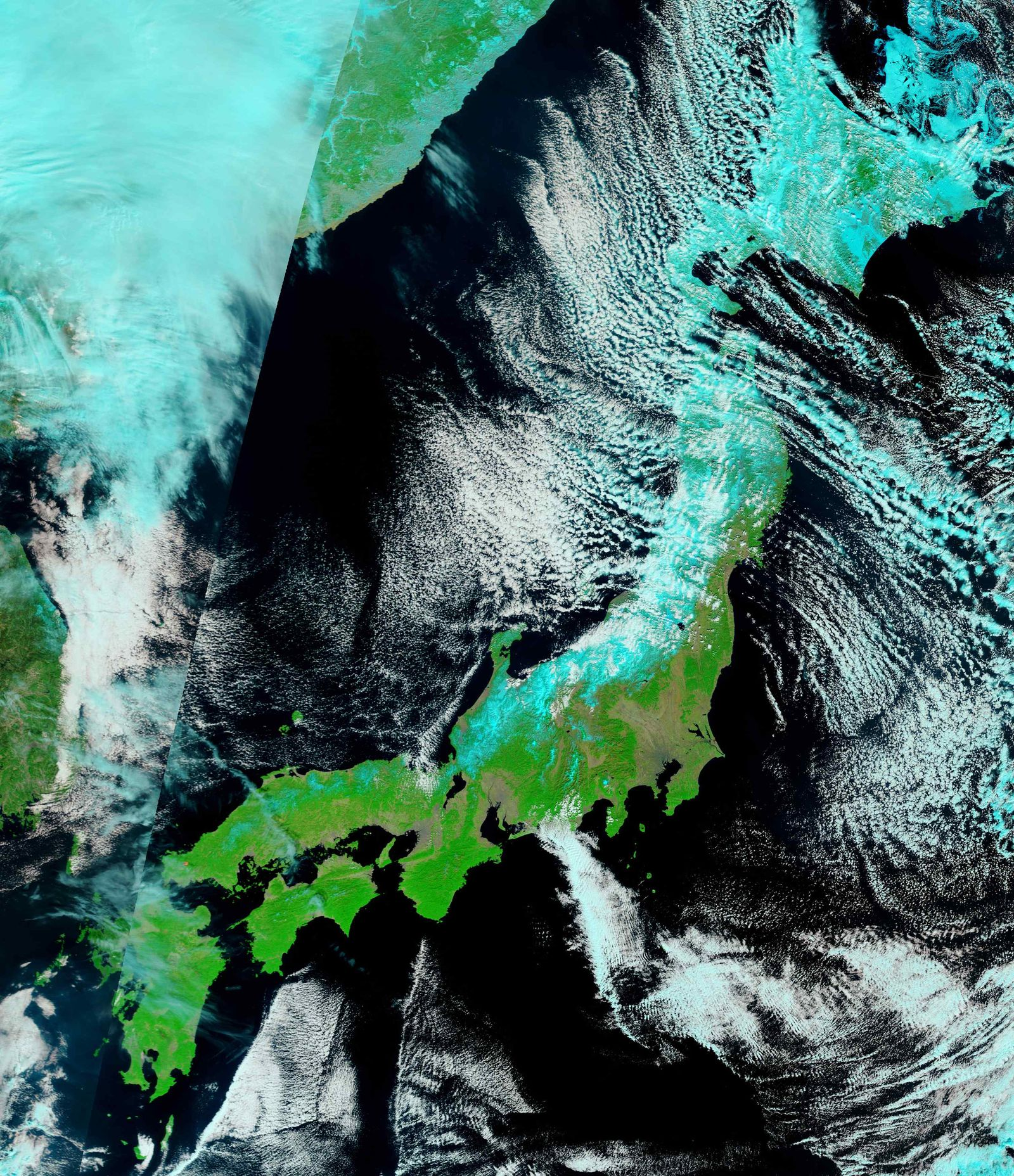 Japan Erdbeben Samstag/ Satellitenbild