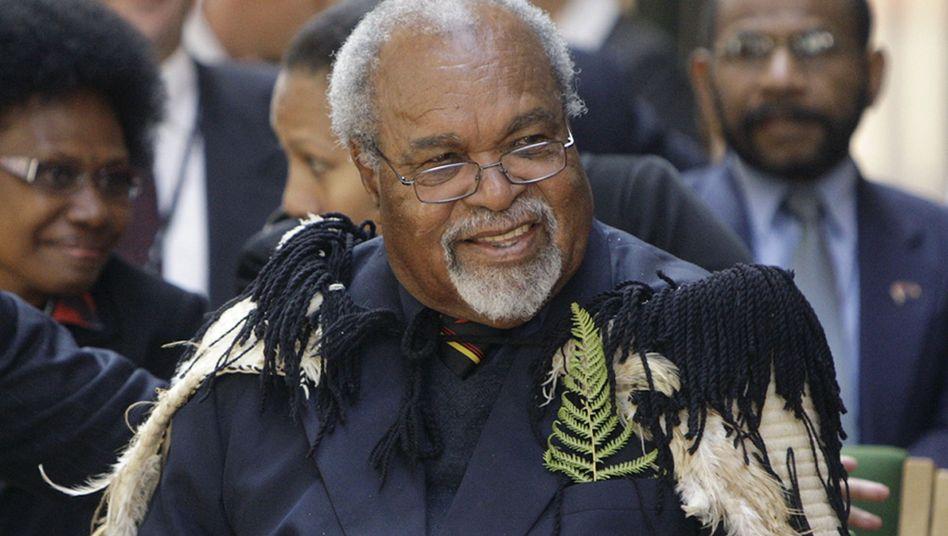 Der entlassene Regierungschef Somare