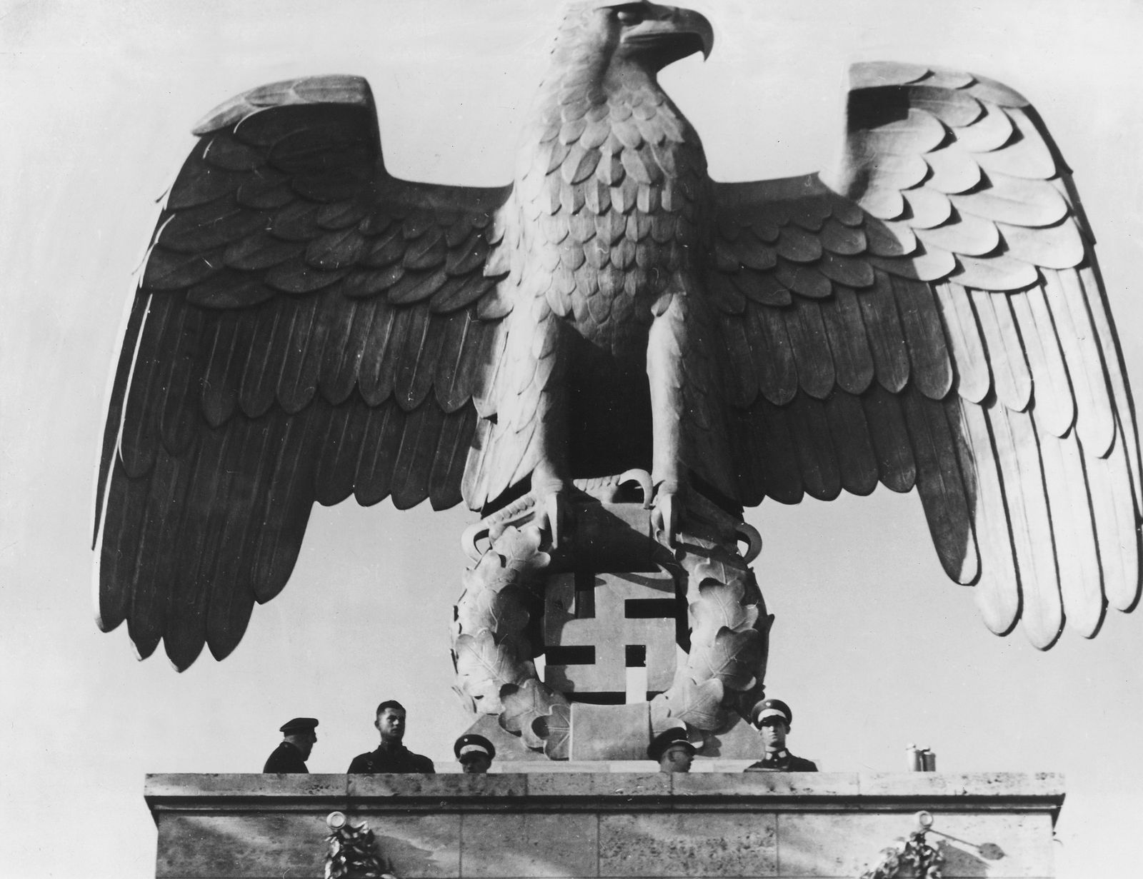 Hoheitszeichen d. NSDAP an d. Luitpold-Arena in Nürnberg