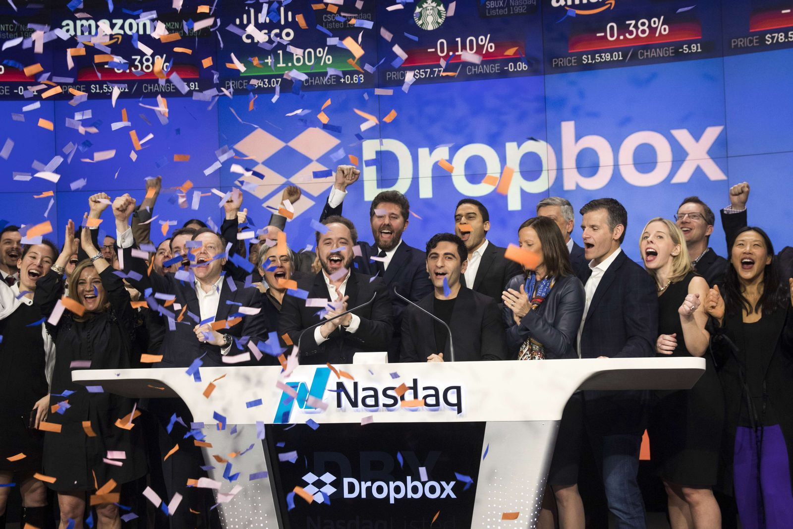 US-DROPBOX-DEBUTS-ON-NASDAQ-EXCHANGE