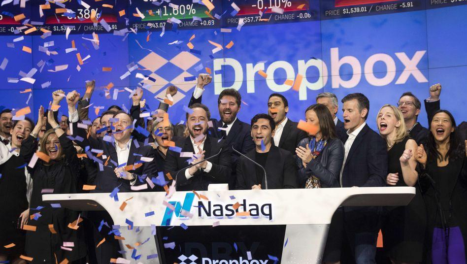 Die Dropbox-Führung beim Börsengang