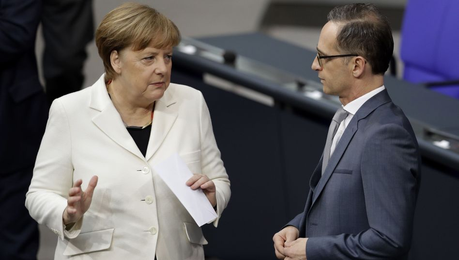 Angela Merkel und Heiko Maas (Archivbild)