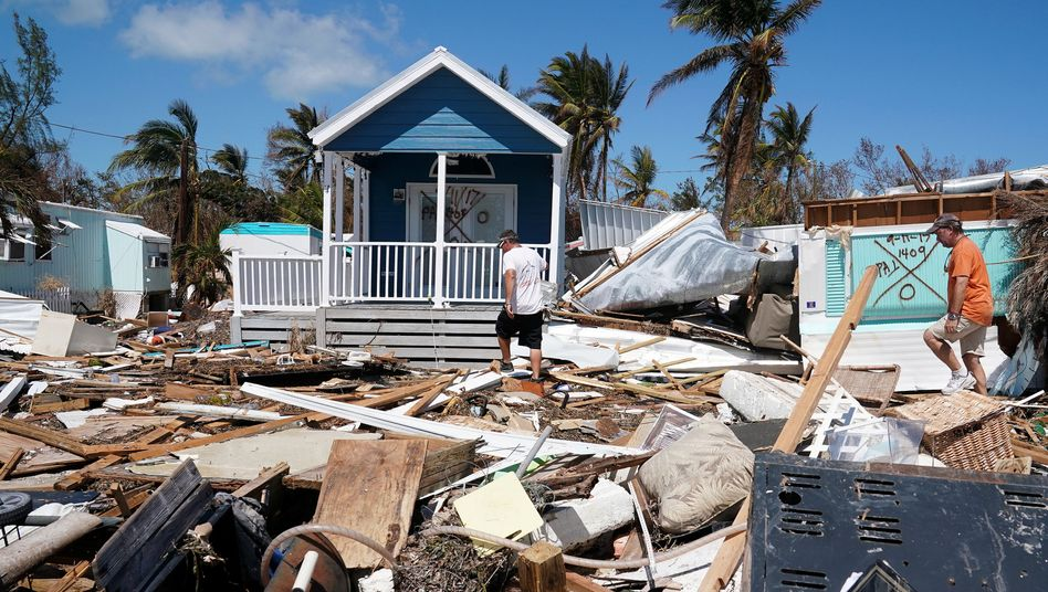 Zerstörtes Haus in Islamorada, Florida