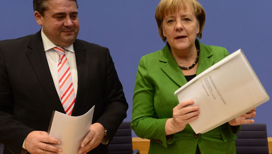 Sigmar Gabriel und Angela Merkel: Mehrere Hürden bis zur Kanzlerwahl