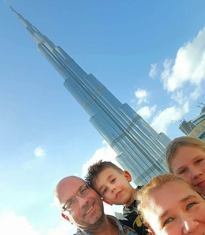 Familie Ooms in Dubai