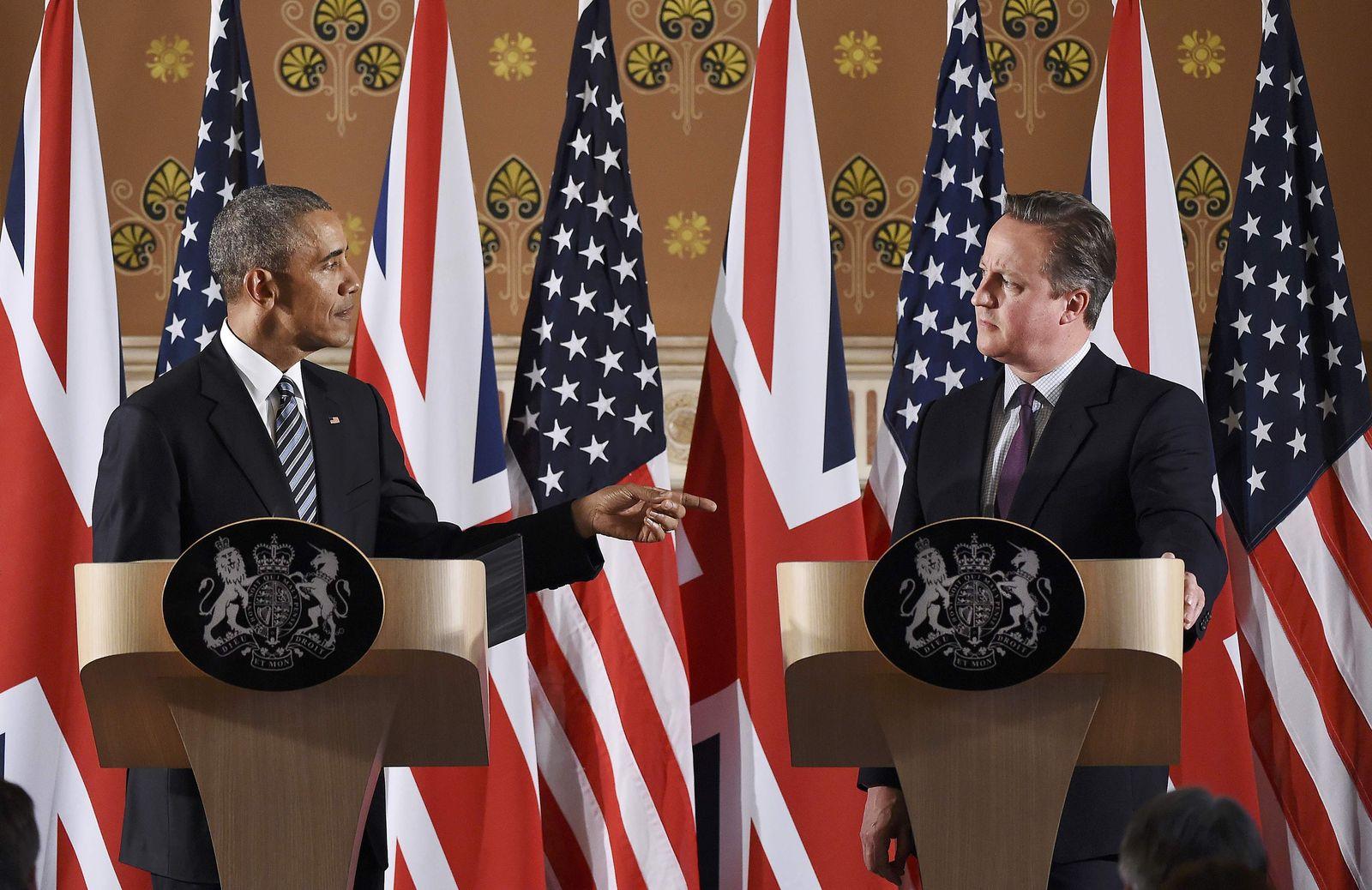 Barack Obama/ David Cameron
