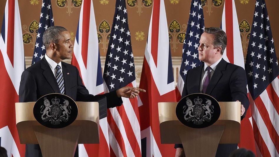 Obama und Cameron in London