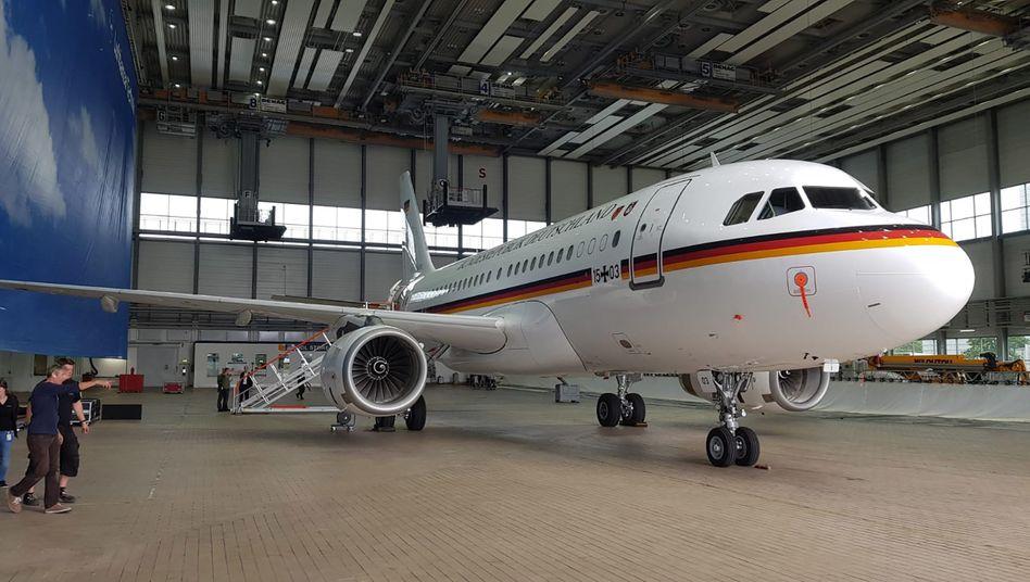 Umgerüsteter Airbus für Aufklärungsflüge (Archivbild)