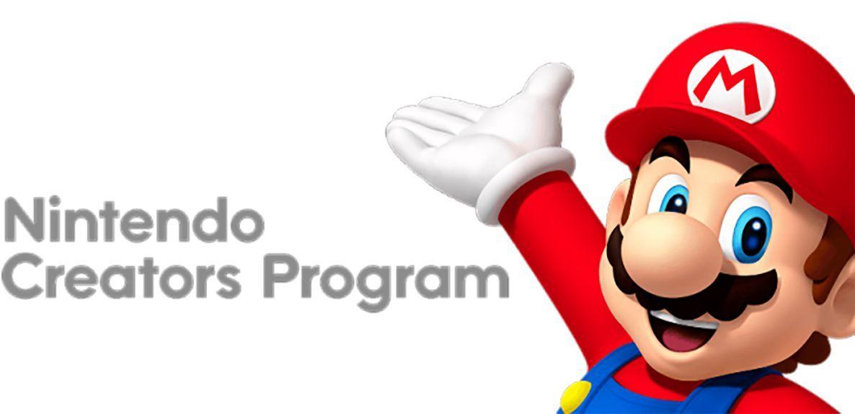 EINMALIGE VERWENDUNG Nintendo Creators Program