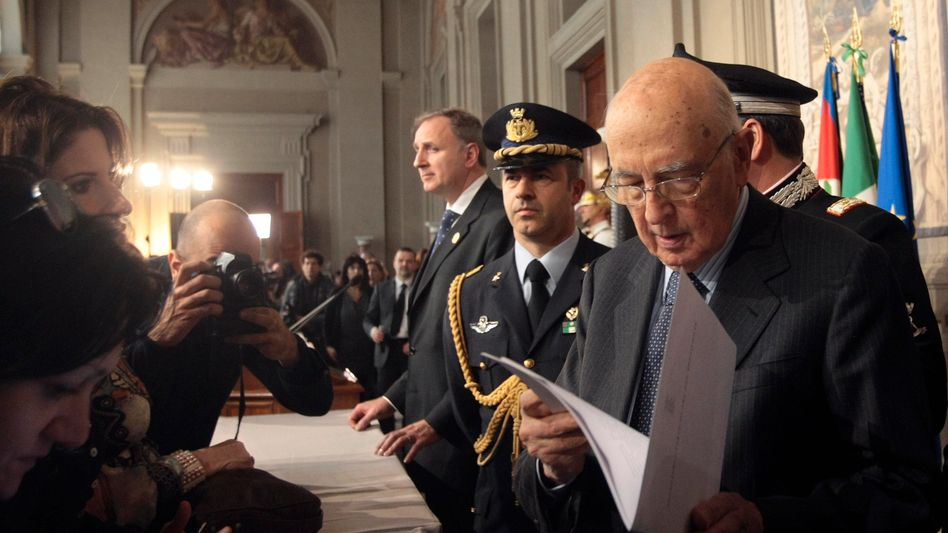 Italiens Präsident Napolitano: Mit Lob überschüttet