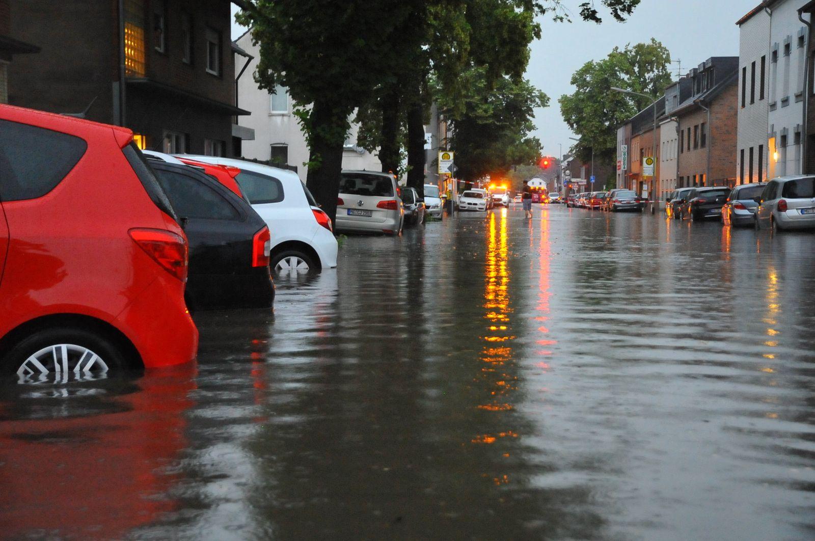 Unwetter über Nordrhein-Westfalen