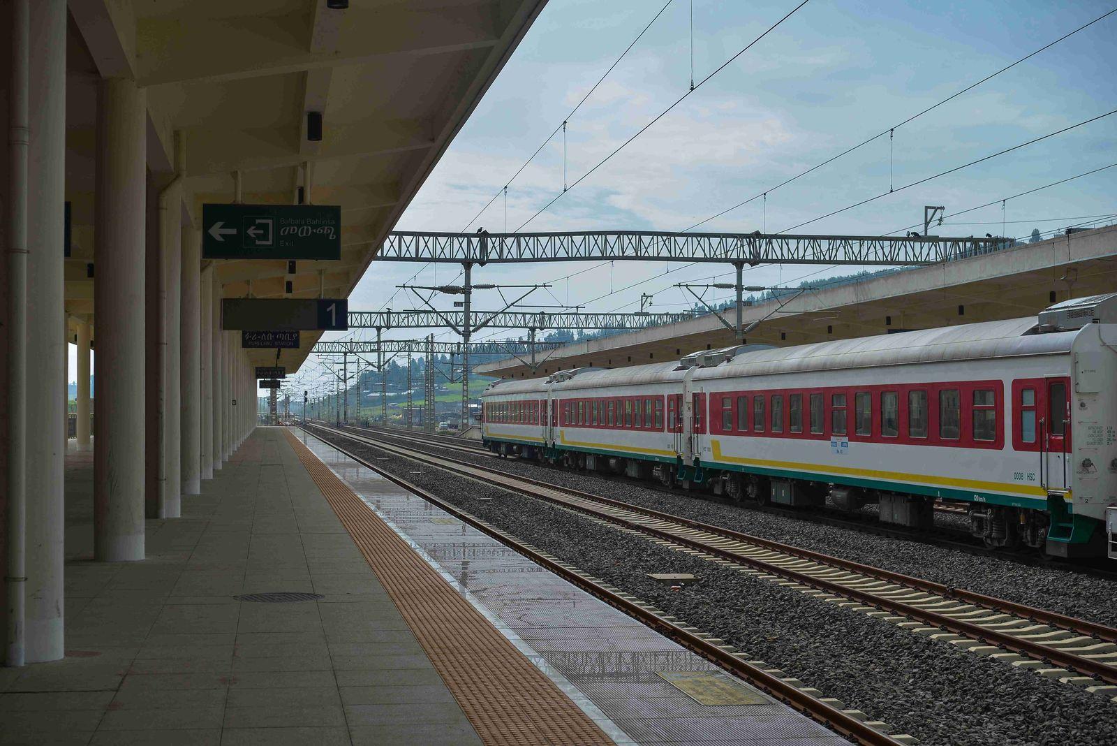 (200918) -- ADDIS ABABA, Sept. 18, 2020 -- Photo taken on Sept. 5, 2020 shows the Lebu station of Ethiopia-Djibouti Rail