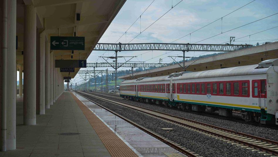 Bahnhof in Äthiopiens Hauptstadt Addis Abeba im September 2020: Hier fahren die Züge in Richtung Dschibuti