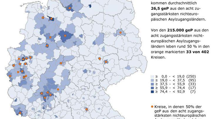 Daten der Bundesagentur für Arbeit: Wohin Flüchtlinge ziehen