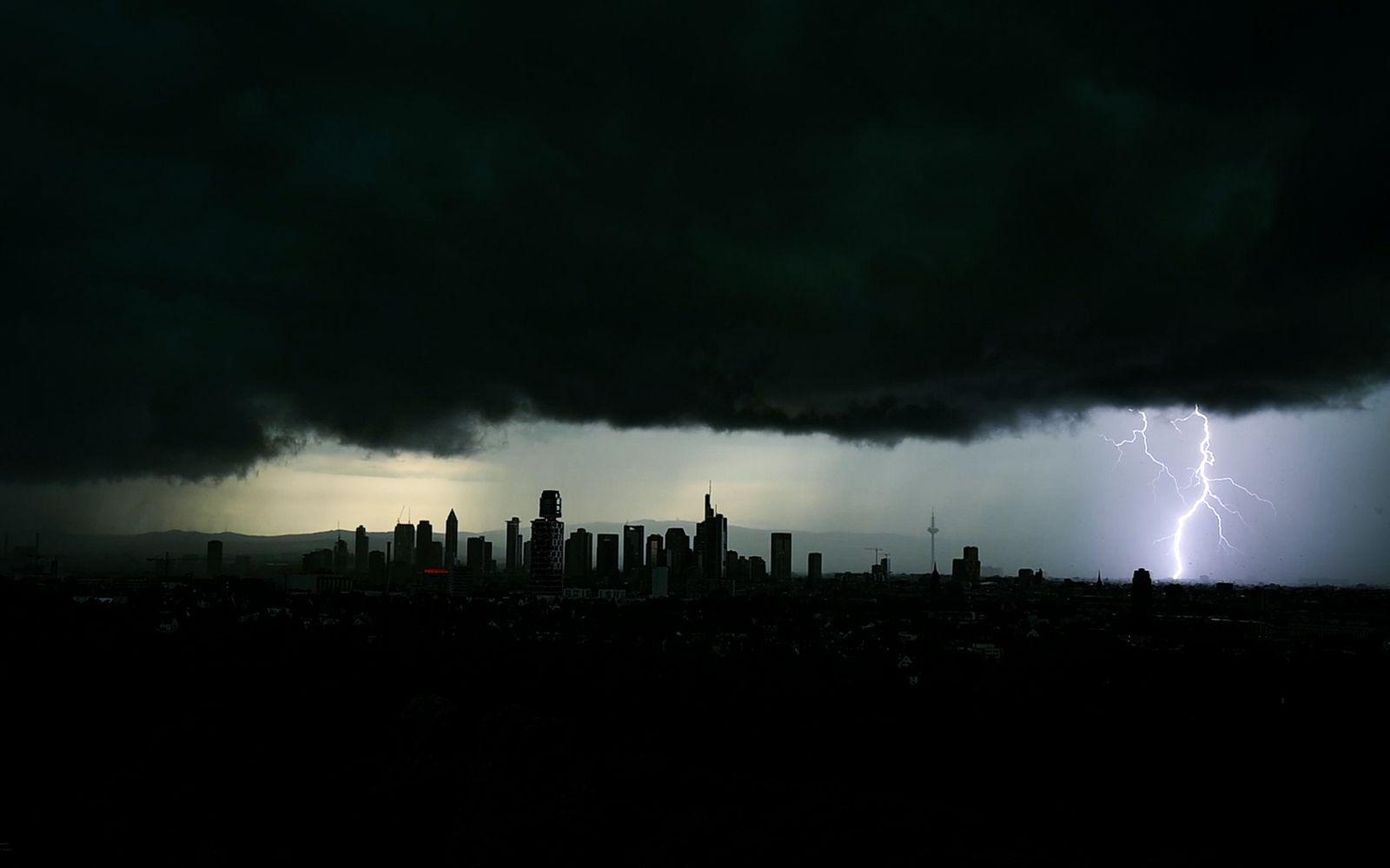 Unwetter über Frankfurt am Main