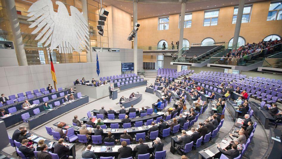 Bundestagsplenum (Archivbild): Mehrheit für die Vorratsdatenspeicherung