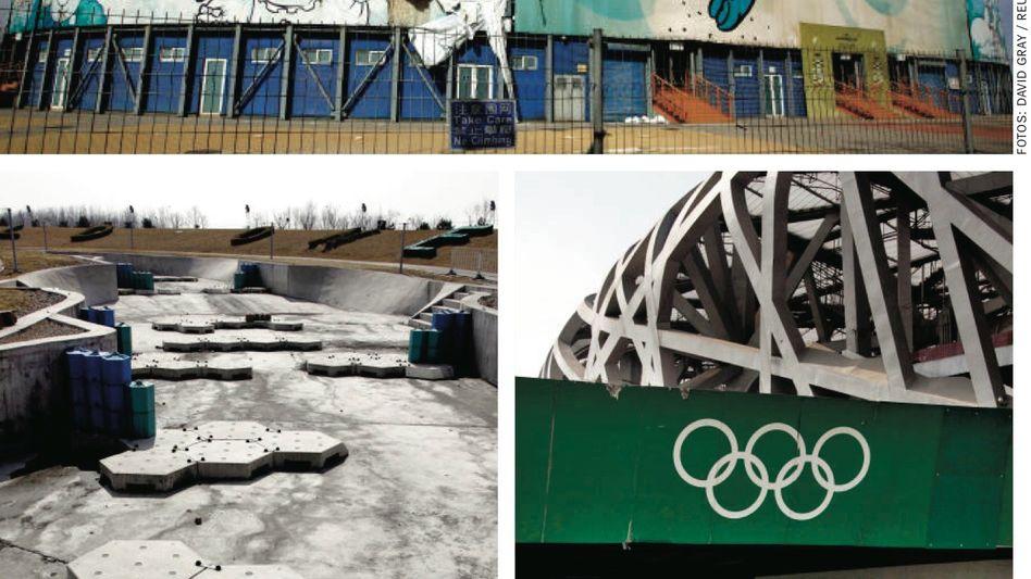 Beachvolleyball-Arena, Kajak-Strecke, Olympiastadion in Peking