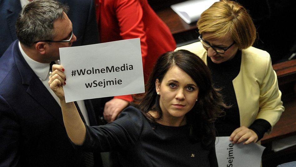Oppositionspolitikerin Kornelia Wroblewska