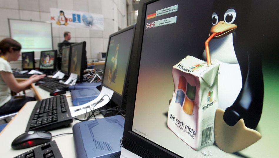 Linux-PC (Archivbild): Für Behörden günstiger als Windows
