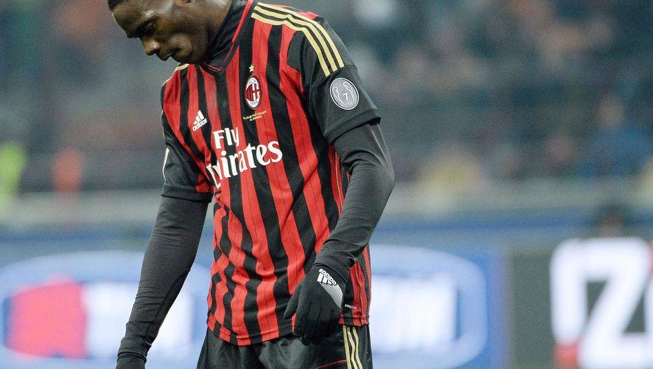 Milan-Profi Balotelli: Von Fans des AS Rom beleidigt