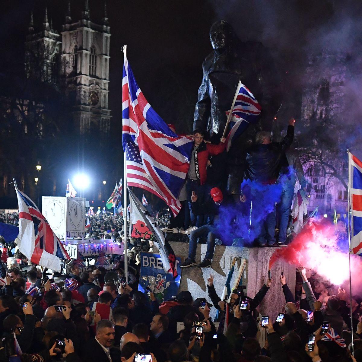 Videoreportage aus London: Brexit-Party mit Prosecco und Bengalos