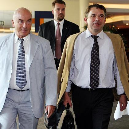Brandenburgs CDU-Chef Jörg Schönbohm (l.), Ulrich Junghanns (r.): Geordneter Rückzug misslungen