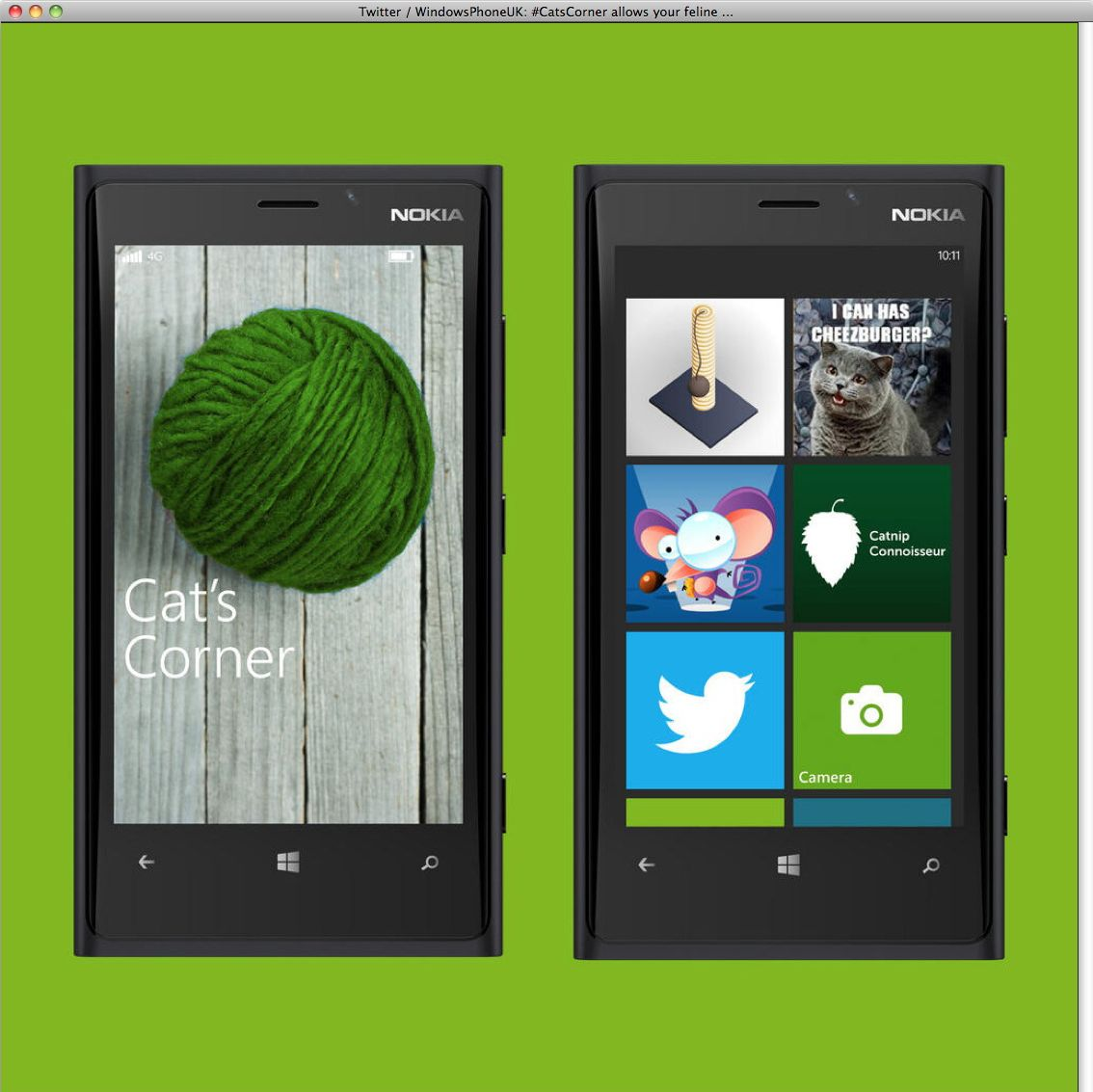 EINMALIGE VERWENDUNG NUR ALS ZITAT Screenshot/ Aprilscherz/ Twitter/ Nokia
