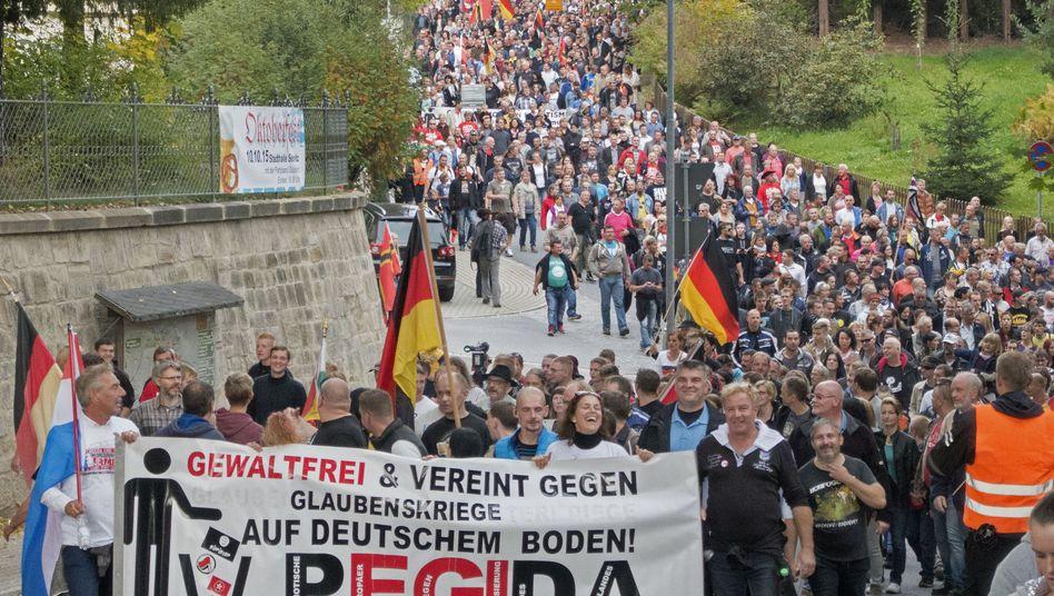 Demonstration in Sebnitz: Vereint gegen Flüchtlinge