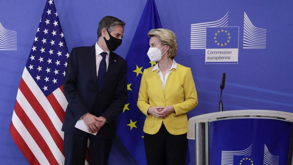 US-Außenminister Antony Blinken mit EU-Kommissionspräsidentin Ursula von der Leyen