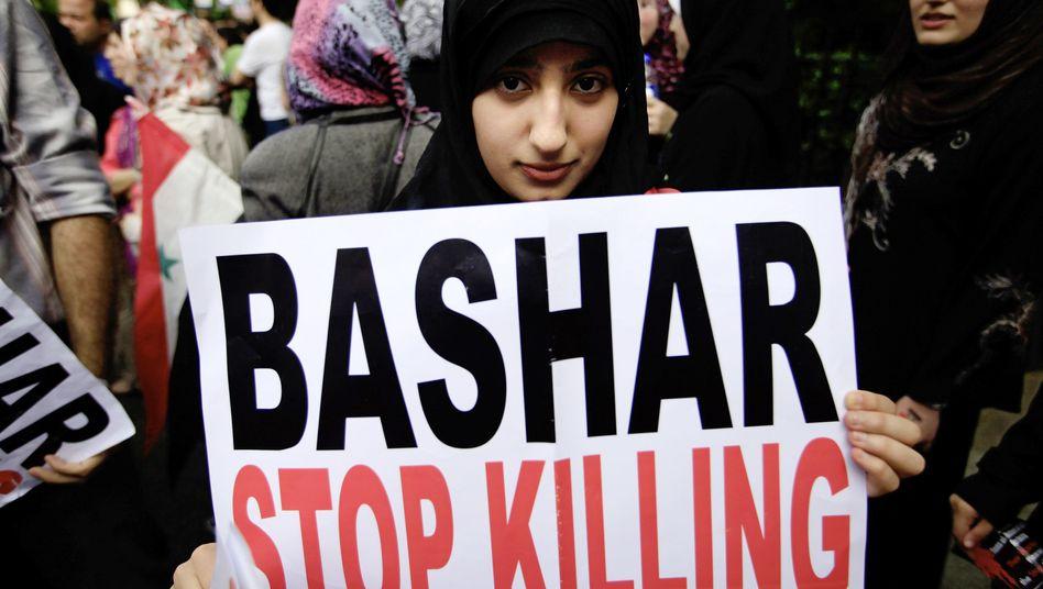 Demonstration in Homs: Seit März sollen Hunderte Menschen gestorben sein