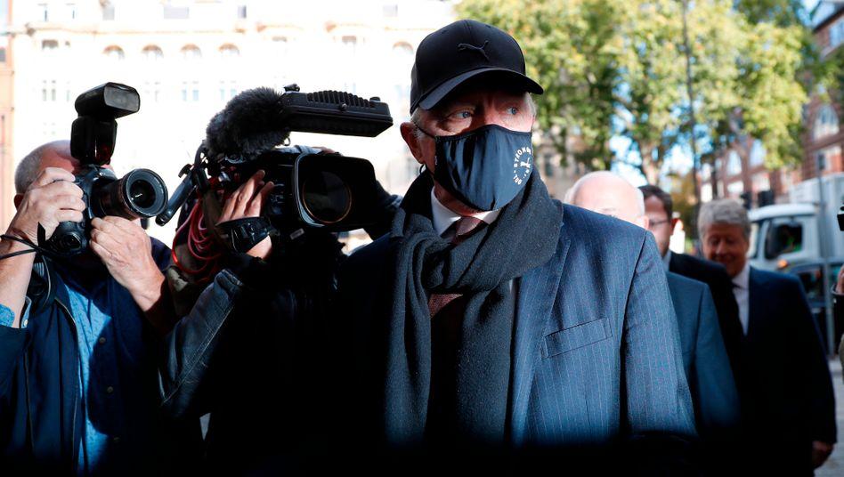 Boris Becker vor dem Gerichtstermin in London