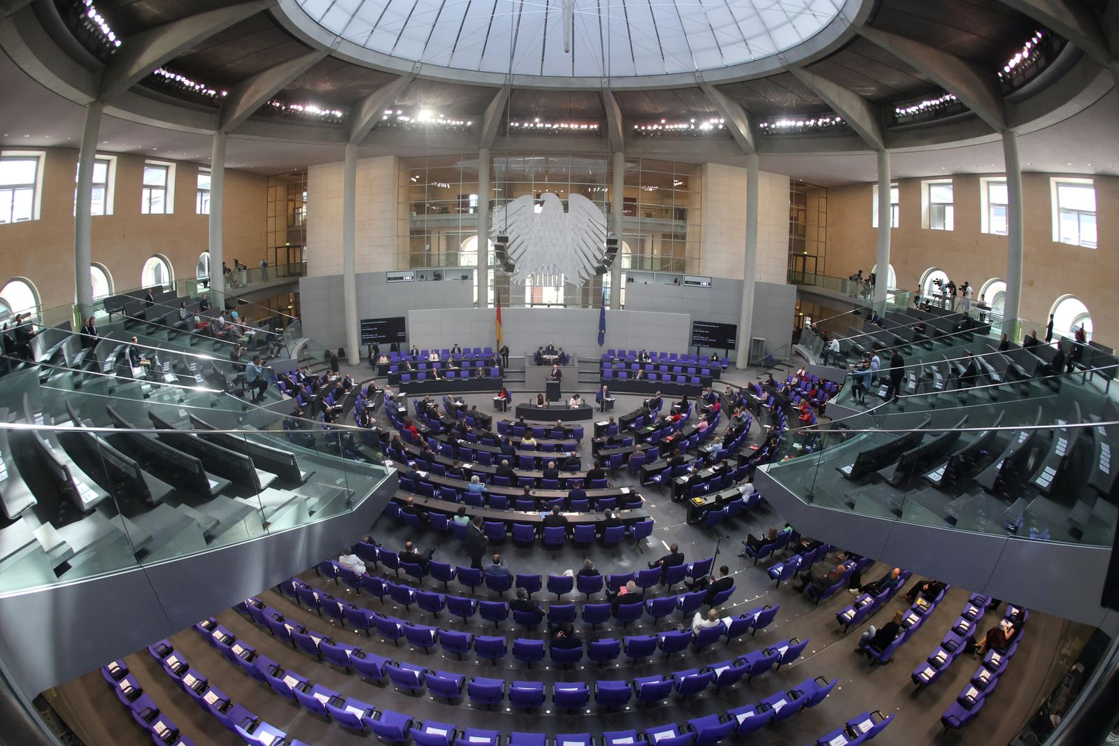 Session at the lower house of German parliament, Bundestag, in Berlin