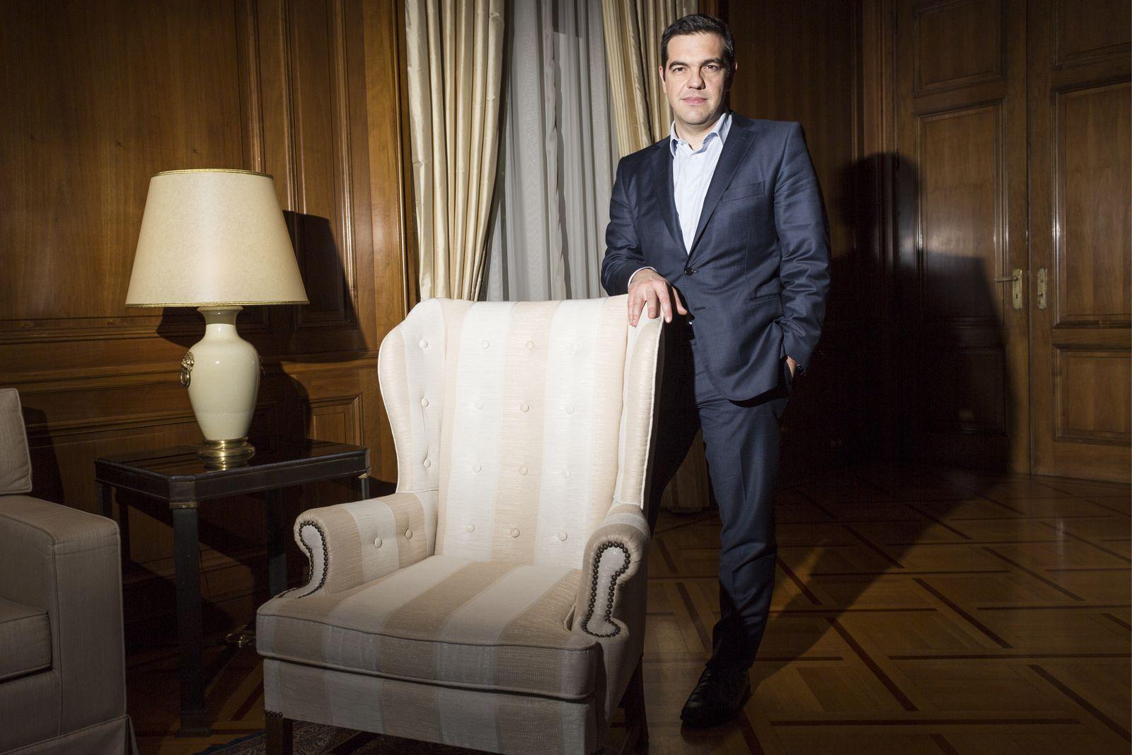EINMALIGE VERWENDUNG Alexis Tsipras