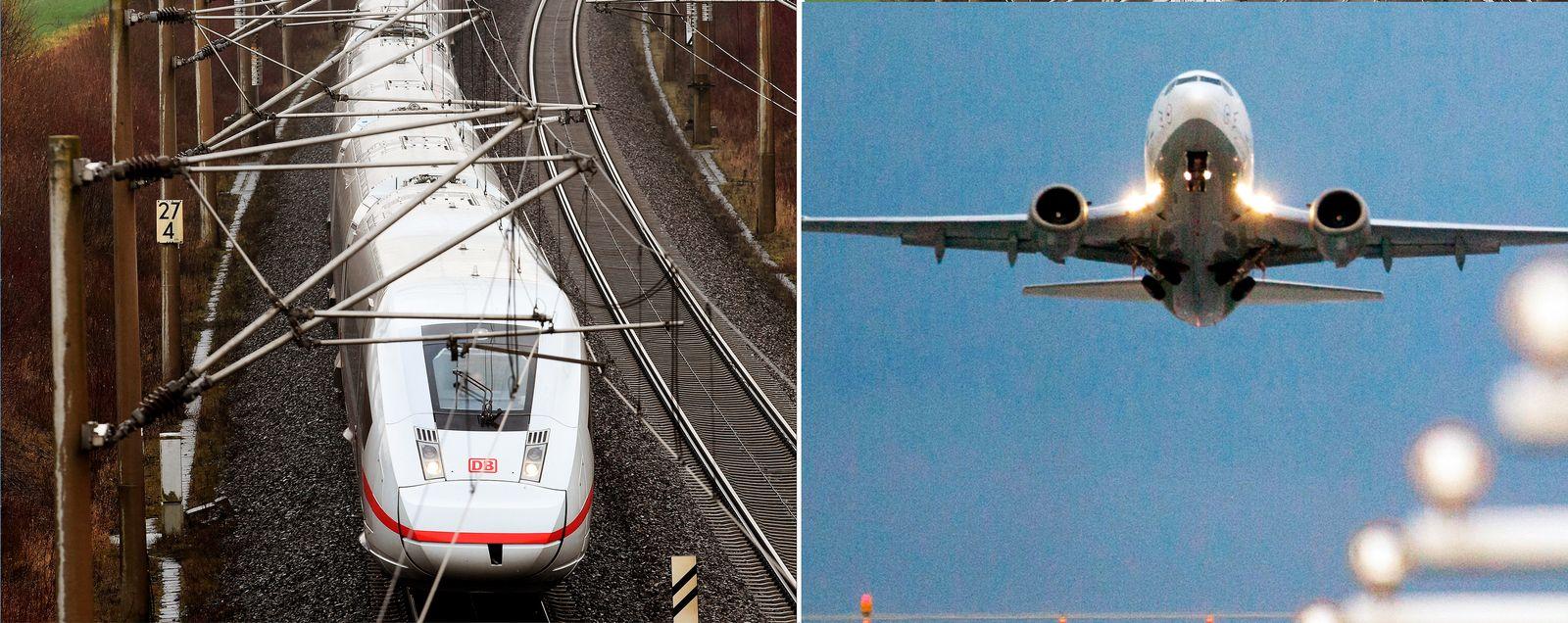 Bahn / Flieger
