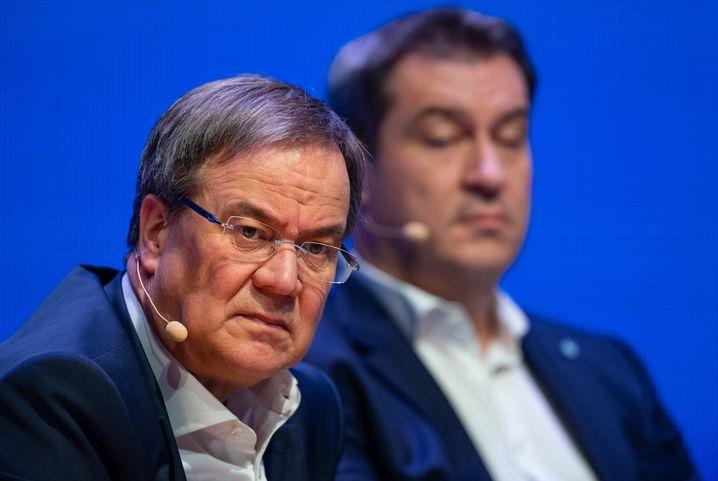 Kanzlerkandidat Laschet, CSU-Chef Söder
